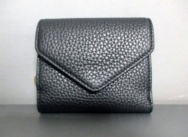 クリスチャンディオール 3つ折り財布美品  - 黒 レザー 0