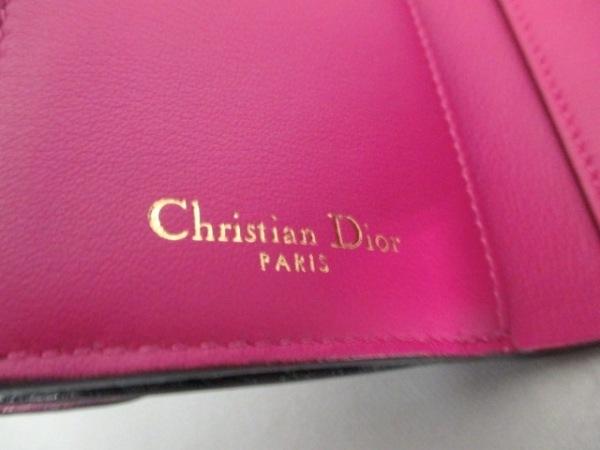 クリスチャンディオール 3つ折り財布美品  - 黒 レザー 5