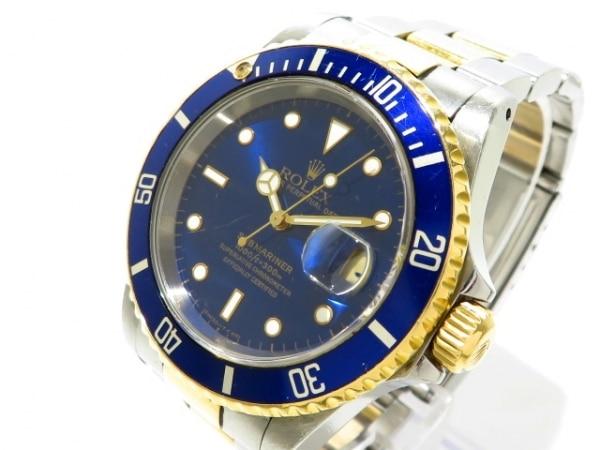 ROLEX(ロレックス) 腕時計 サブマリーナデイト 16613 メンズ ブルー 0