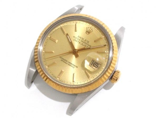 ロレックス 腕時計 デイトジャスト 16013 メンズ シャンパンゴールド 0
