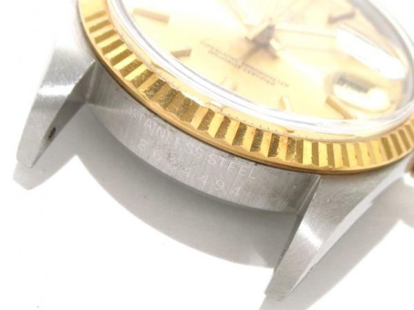 ロレックス 腕時計 デイトジャスト 16013 メンズ シャンパンゴールド 4
