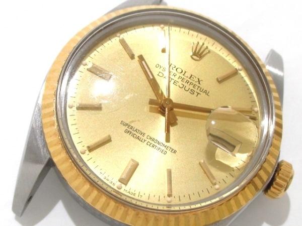 ロレックス 腕時計 デイトジャスト 16013 メンズ シャンパンゴールド 6