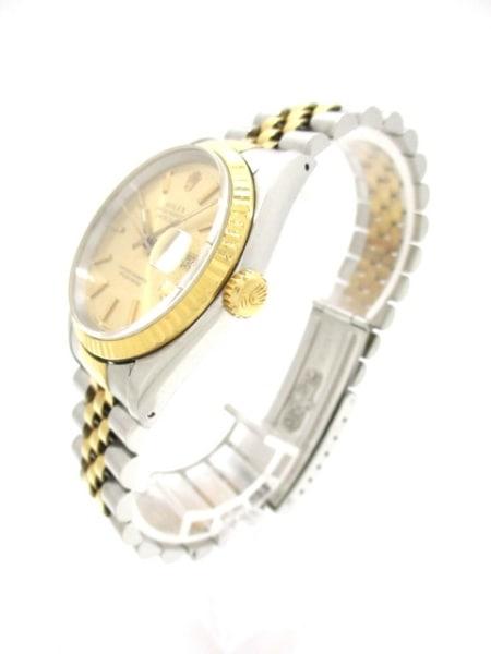 ロレックス 腕時計 デイトジャスト 16233 メンズ シャンパンゴールド 2