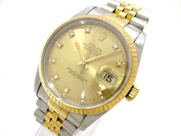 ROLEX(ロレックス) 腕時計 デイトジャスト 16233G メンズ 0