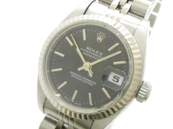 ROLEX(ロレックス) 腕時計 デイトジャスト 79174 レディース 黒 0