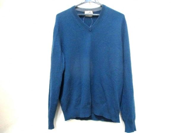 エルメス 長袖セーター サイズL メンズ ネイビー×グレー×黒 0