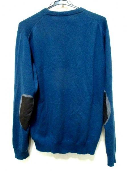 エルメス 長袖セーター サイズL メンズ ネイビー×グレー×黒 2