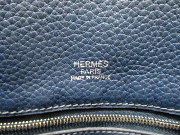 HERMES(エルメス) トートバッグ ヴィクトリアカバス32 ブルーロイ 6