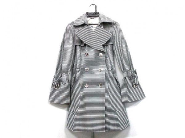 バーバリーブルーレーベル コート サイズ38 M レディース 黒×白 0