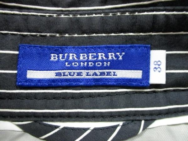 バーバリーブルーレーベル コート サイズ38 M レディース 黒×白 3