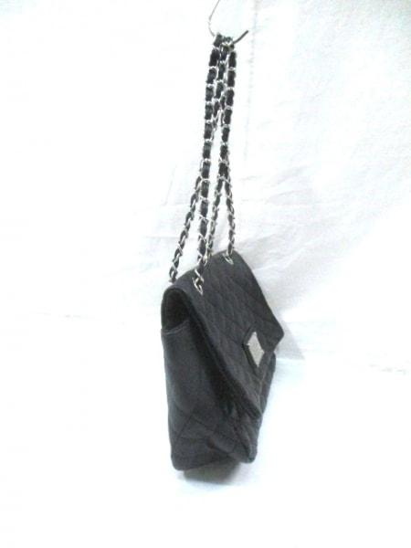 セシルマクビー ショルダーバッグ 黒×シルバー 合皮×金属素材 2
