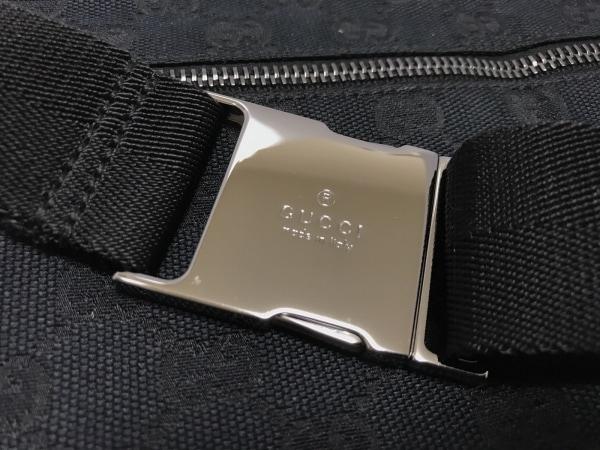 グッチ ウエストポーチ美品  GG柄 28566 黒 ジャガード×レザー 6