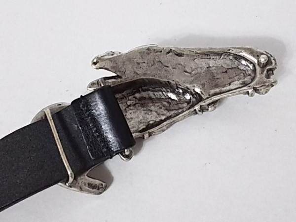 GUCCI(グッチ) ベルト 90・36 黒×シルバー 馬 レザー×金属素材 7