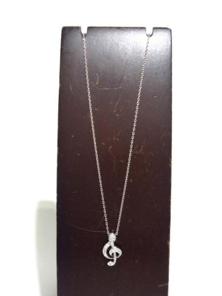 PonteVecchio(ポンテヴェキオ) ネックレス美品  K18WG×ダイヤモンド 2