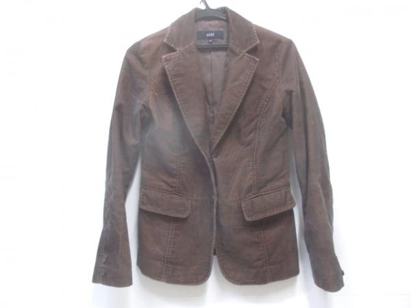 【中古】 オゾック OZOC ジャケット サイズ38 M レディース ブラウン