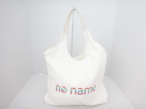 【中古】 ノーネーム NONAME トートバッグ アイボリー 刺繍 キャンバス