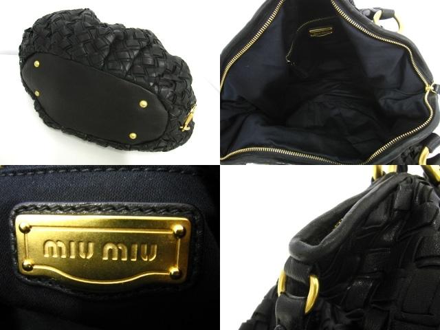 miumiu(ミュウミュウ)のレザーイントレショルダーバッグ