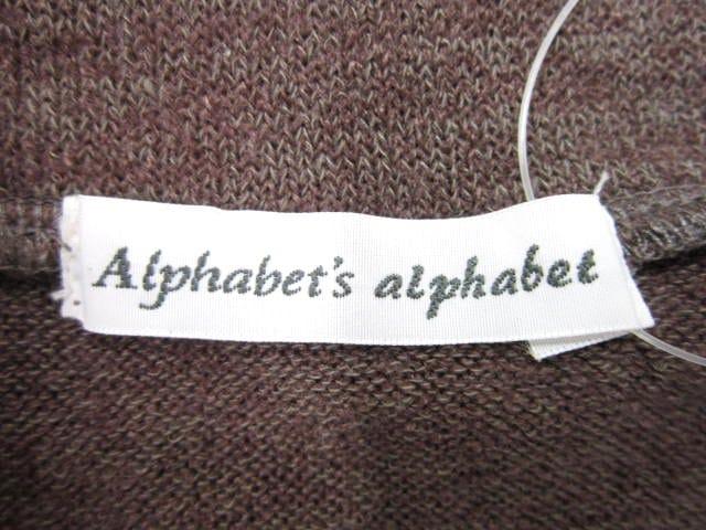 ALPHABET(アルファベット)のカットソー