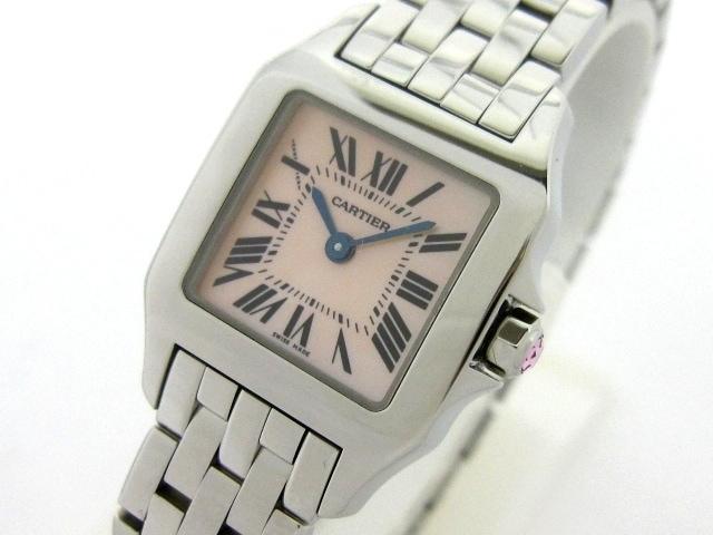 腕時計/サントスドゥモワゼルSM/W25075Z5/※箱・ケース・保証書付き