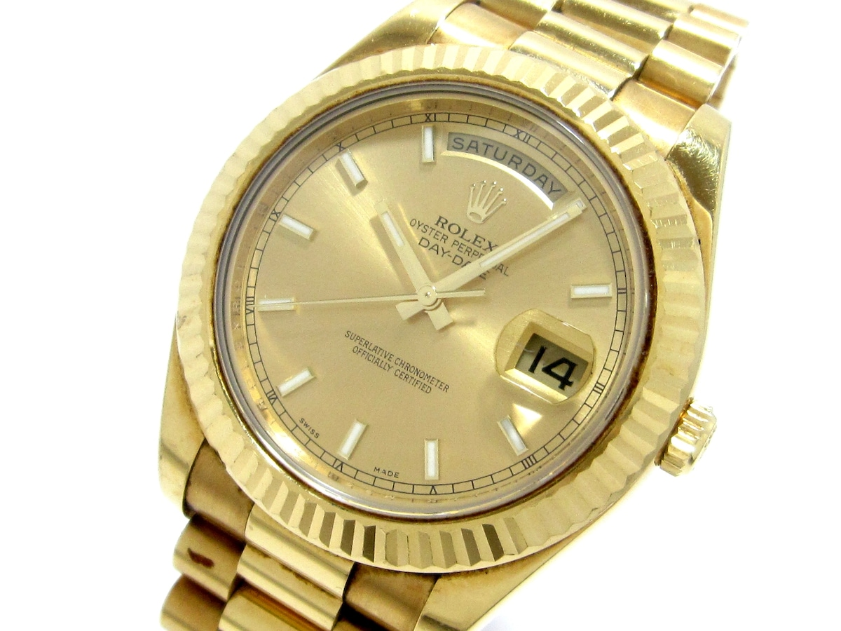 size 40 6cb7e d701a ROLEX(ロレックス)/デイデイト2/腕時計/型番218238の買取実績 ...
