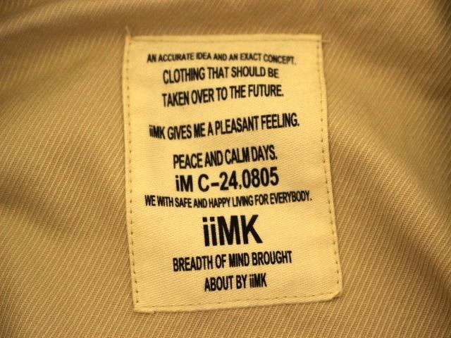 iiMK(アイアイエムケー)のコート
