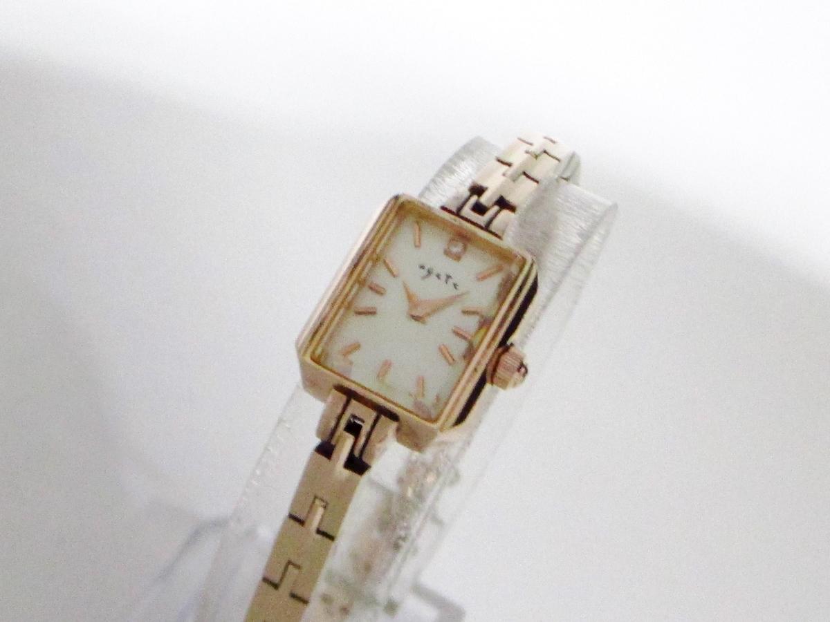 1e473149ea agete(アガット)/スクエアフェイスジュエリーウォッチ/腕時計/型番 ...