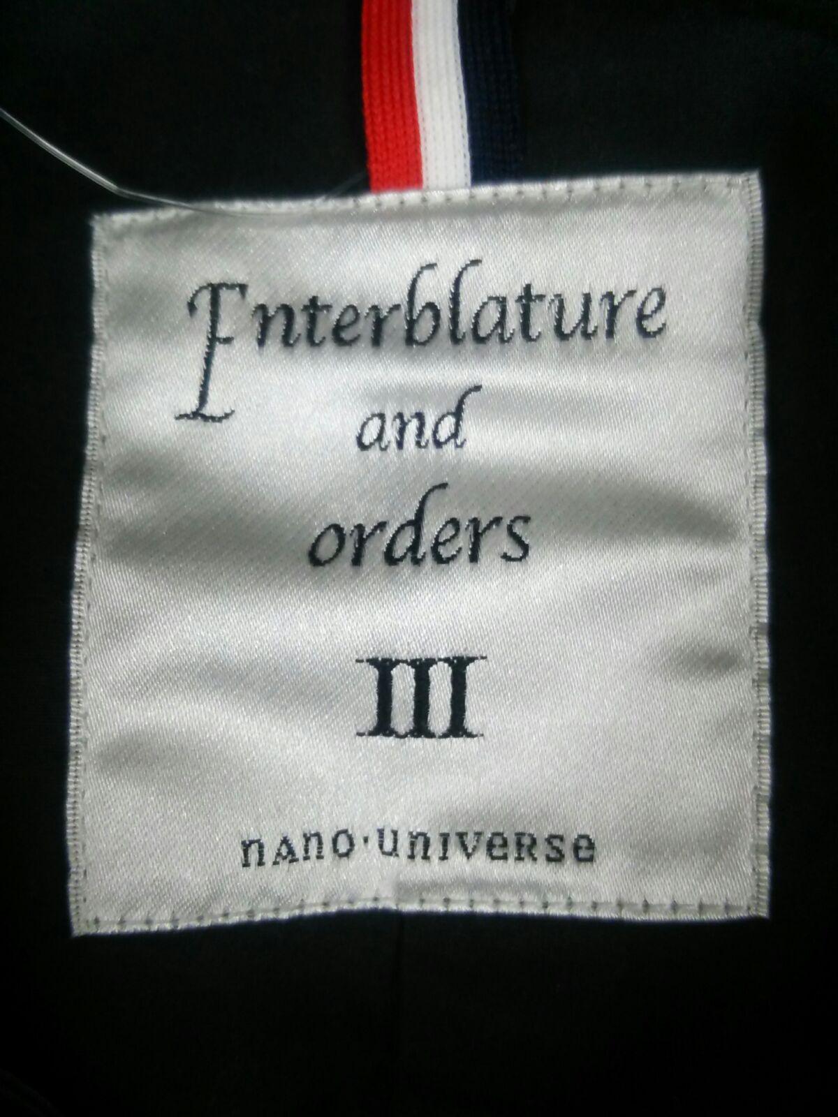 Enterblature and orders(エンタブラチュアアンドオーダー)のコート