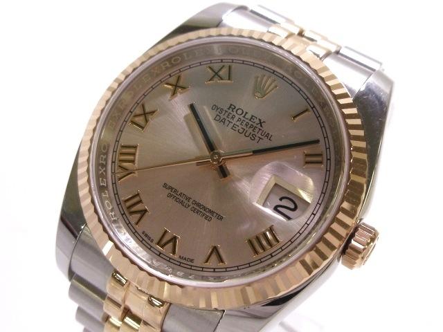 7be9ff2ee2 ROLEX(ロレックス) 腕時計 デイトジャスト 36/116231 メンズ ピンク ...
