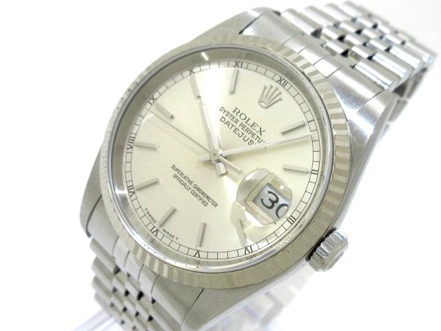 promo code bbb2a 689c6 ROLEX(ロレックス) 腕時計 デイトジャスト 16234 メンズ シルバー