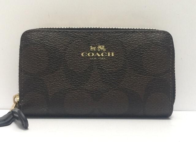 COACH(コーチ)のラグジュアリー シグネチャー PVC スモール ダブル ジップ コインパース