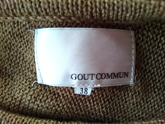 GOUT COMMUN(グーコミューン)のセーター
