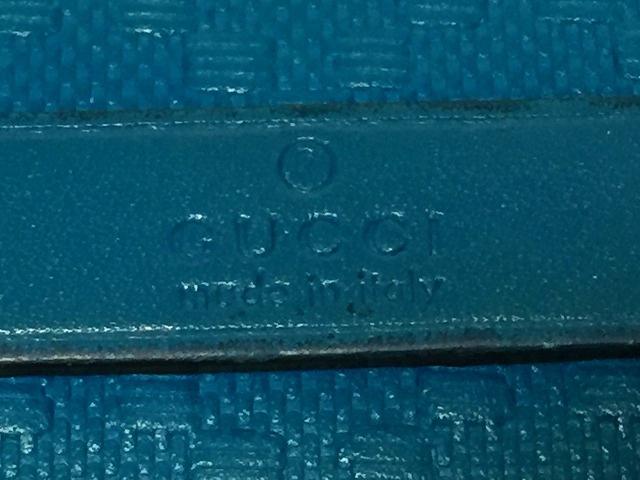 7abd2eaa4806 ... グッチ 長財布 ディアマンテ 354493 エメラルドグリーン 型押し加工 5 ...