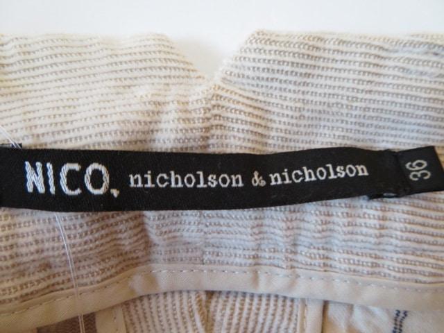 NICO.(nicholson&nicholson)(ニコ(ニコルソンアンドニコルソン))のパンツ
