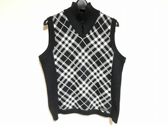 BURBERRYGOLF(バーバリーゴルフ)のセーター 黒×白