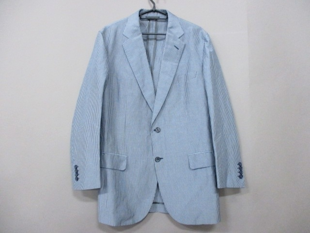 Brioni(ブリオーニ)のジャケット グレー×ライトブルー
