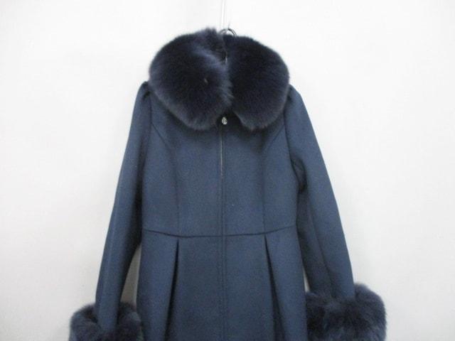 COTOO(コトゥー)のコート 黒×ダークネイビー