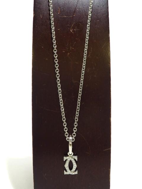Cartier(カルティエ)の2Cダイヤチャームネックレス