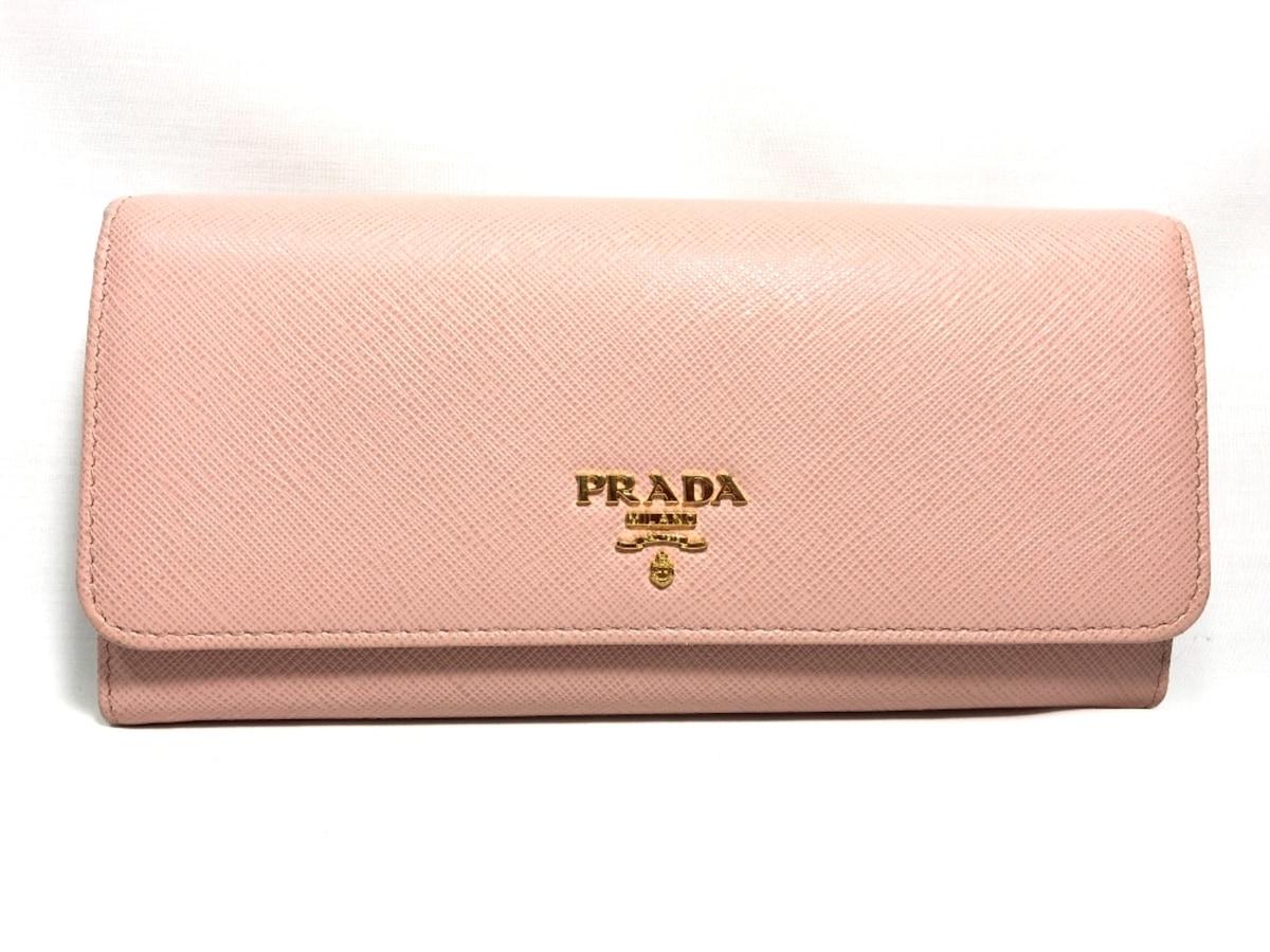 competitive price de106 c5c84 PRADA(プラダ) 長財布 サフィアーノレザー 1MH132 ピンク レザー