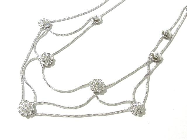 DAMIANI(ダミアーニ)のネックレス K18WG×ダイヤモンド