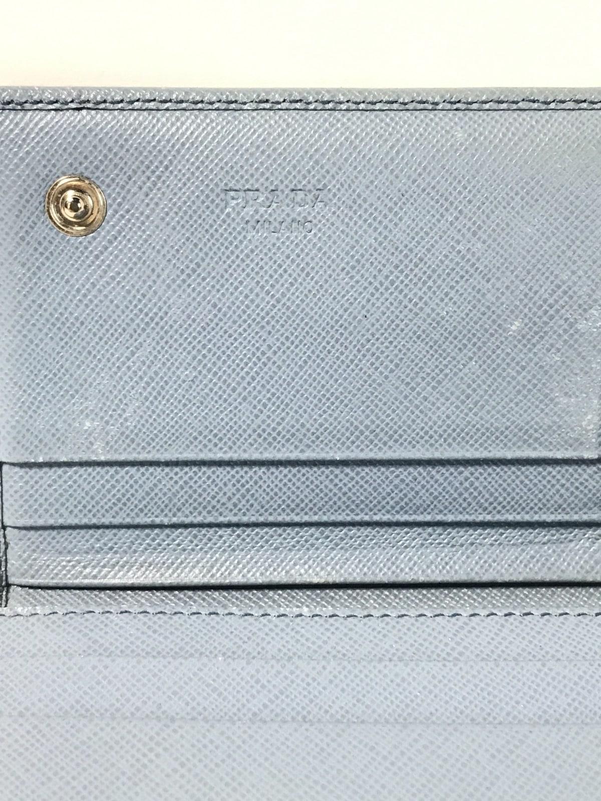 bf20f9de7e5f PRADA(プラダ) 長財布 - ライトグレー レザー(12217936)中古|ブランド ...