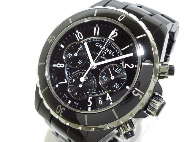 100% authentic 82f1c e6c53 CHANEL(シャネル) 腕時計美品 J12 H0940 メンズ 黒