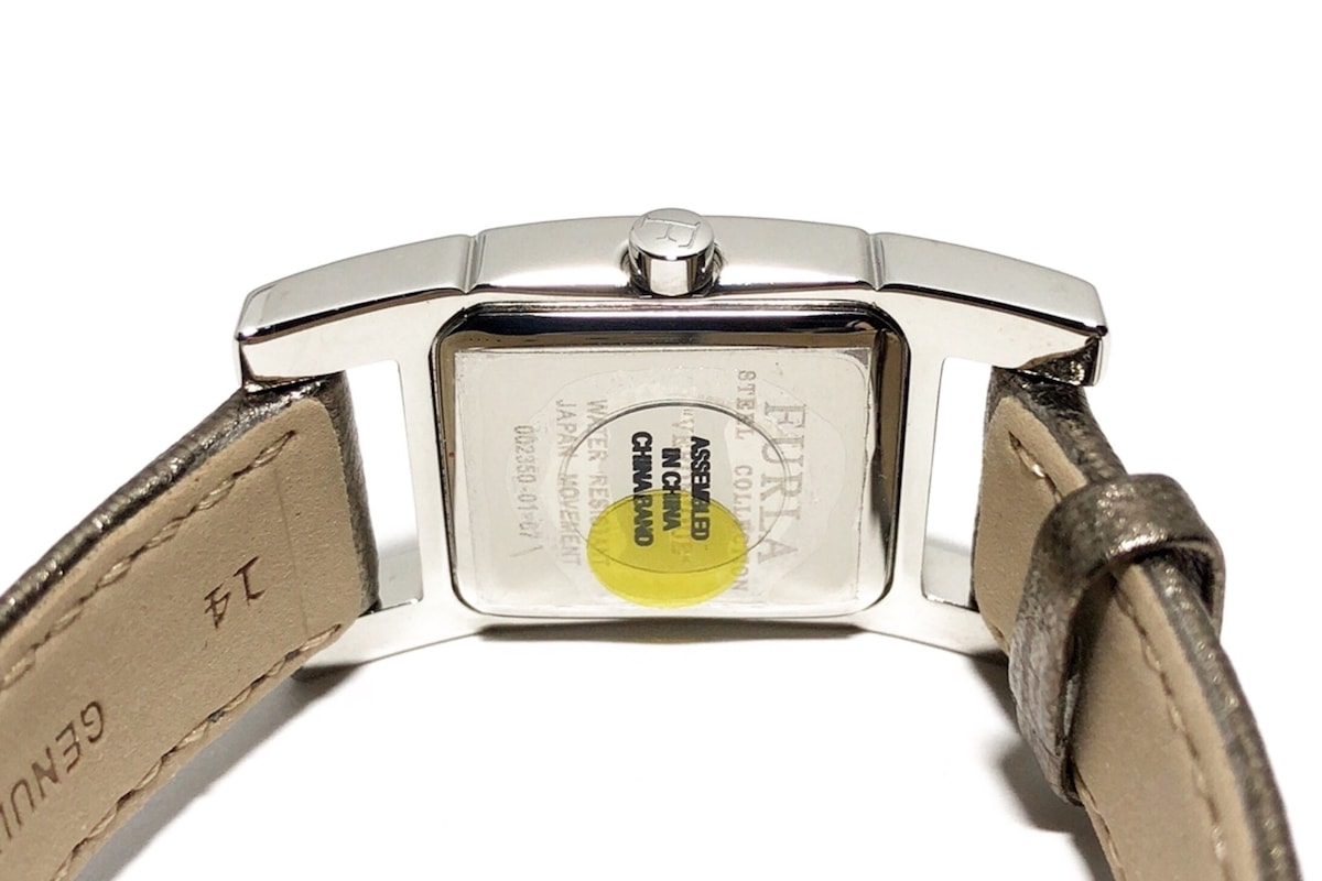 4dad396a9655 ... フルラ 腕時計美品 002350-01-67 レディース 革ベルト シルバー ...