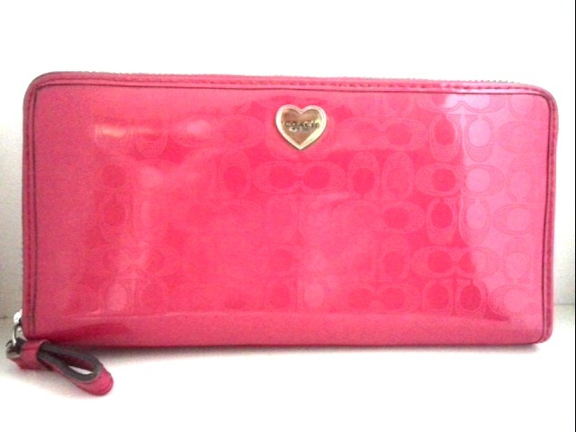 new product 2de88 d937d COACH(コーチ) 長財布 ミニシグネチャー柄 F52682 ピンク
