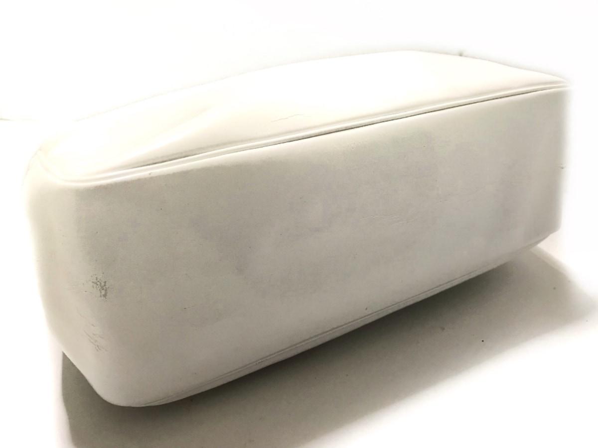 5f28f4b7478f LONGCHAMP(ロンシャン) トートバッグ 白 エナメル(レザー)(12421237 ...