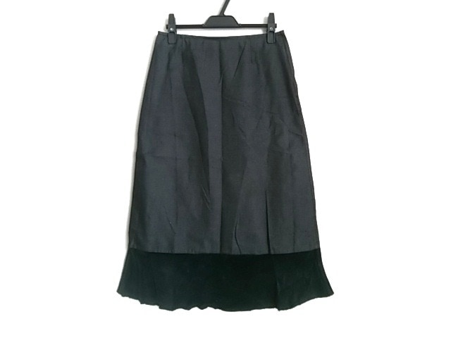 tricot COMMEdesGARCONS(トリココムデギャルソン)のスカート グレー×黒