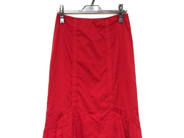 701071645cc4 PRADA(プラダ) ロングスカート サイズ40 M レディース美品 レッド ...