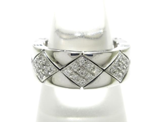 65641070a1f1 CHANEL(シャネル) リング マトラッセリング K18WG×ダイヤモンド ...