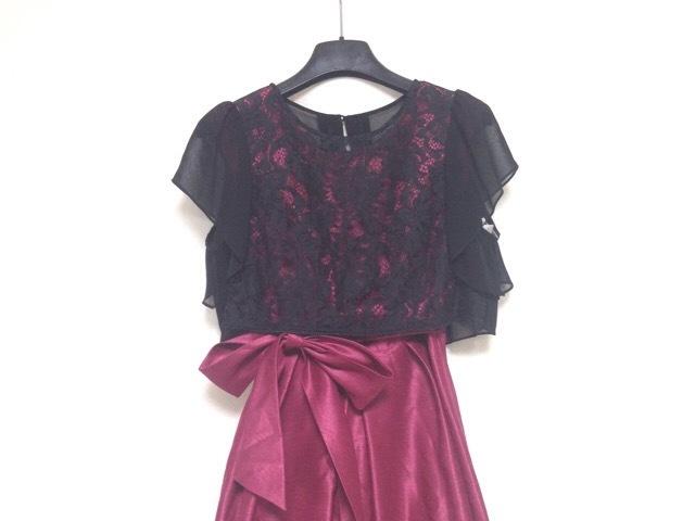 7eec92c1f27c9 aimer(エメ) ドレス サイズ9 M レディース ボルドー×黒 レース(12768236 ...