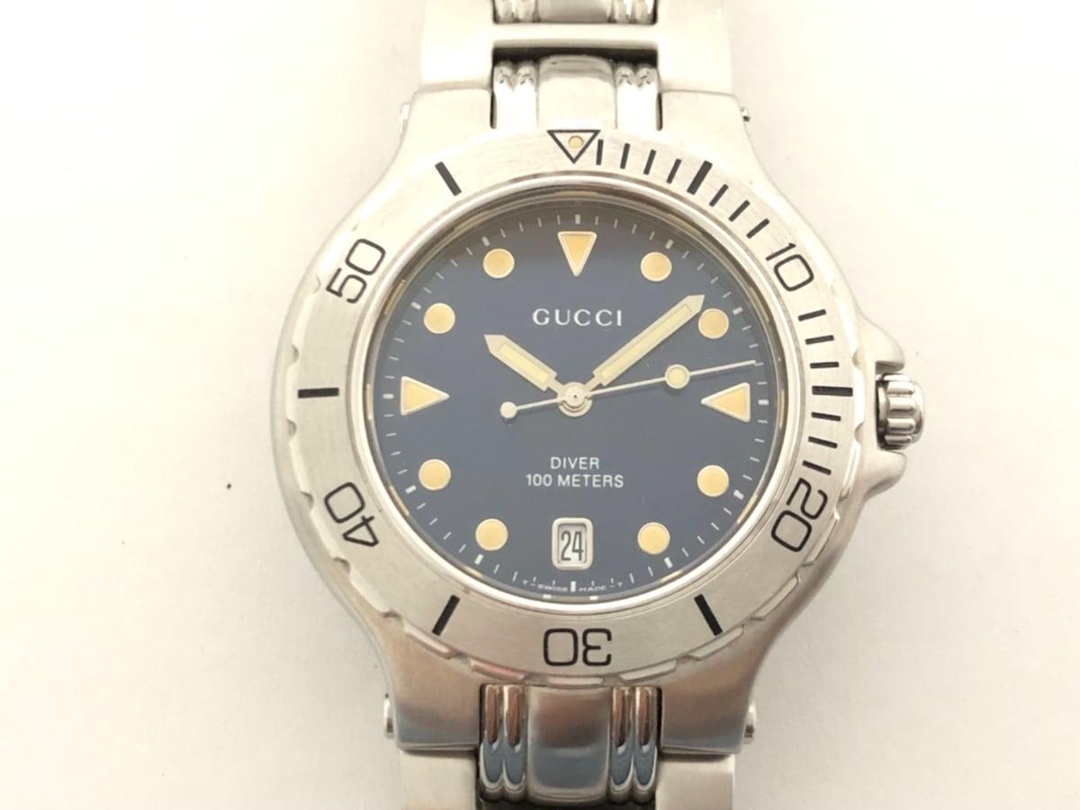 633fb838dd35 GUCCI(グッチ) 腕時計美品 9750M メンズ ネイビー(12725840)中古 ...