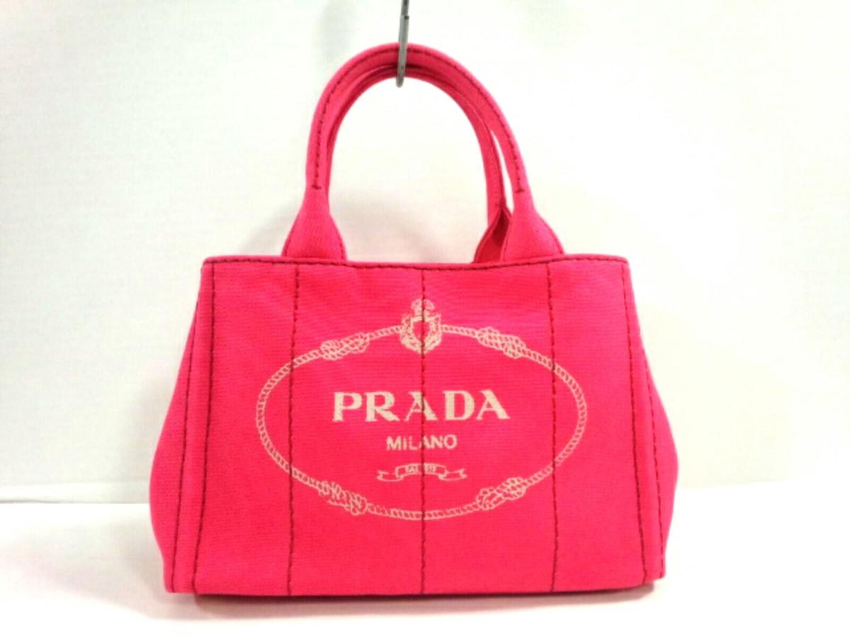 official photos 4ad4d 73d67 PRADA(プラダ) トートバッグ CANAPA 1BG439 ピンク キャンバス